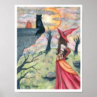Meneos y la impresión del poster de la bruja