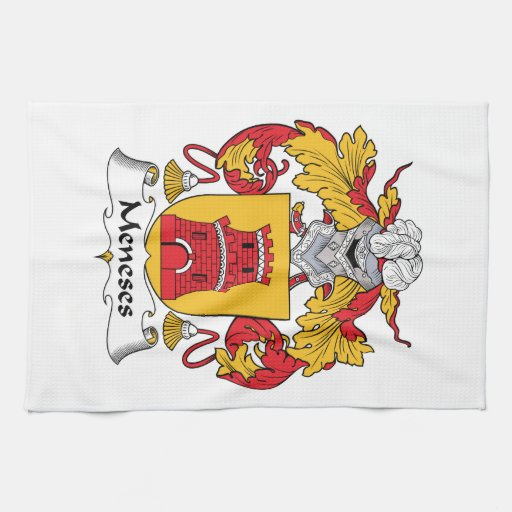 Hand Towels Meaning: Meneses Family Crest Hand Towels