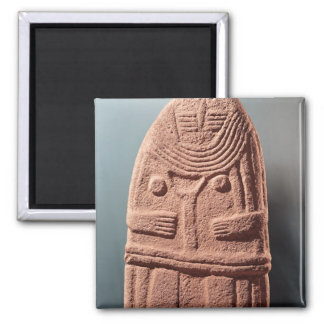 Menhir statue no.4, from Saint-Sernins-sur-Rance 2 Inch Square Magnet