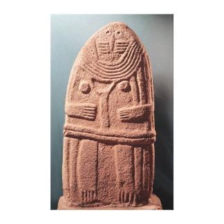 Menhir statue no.4, from Saint-Sernins-sur-Rance Canvas Print