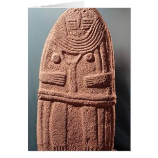 Menhir statue no.4, from Saint-Sernins-sur-Rance Card