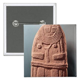 Menhir statue no.4, from Saint-Sernins-sur-Rance Pinback Button