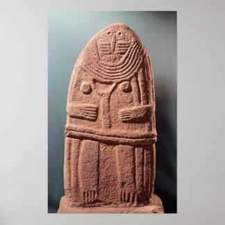Menhir statue no.4, from Saint-Sernins-sur-Rance Poster