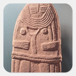Menhir statue no.4, from Saint-Sernins-sur-Rance Square Sticker