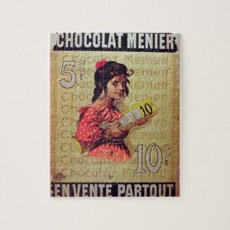 """Menier Chocolat"", en venta por todas partes (lith Rompecabeza"