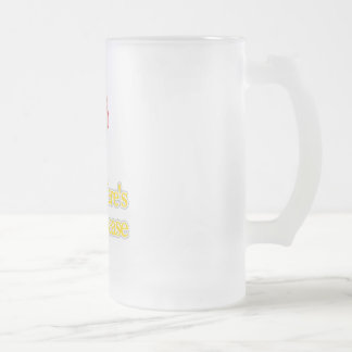 Meniere's Disease Frosted Glass Beer Mug
