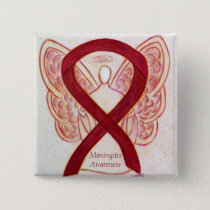Meningitis Angel Awareness Ribbon Pins