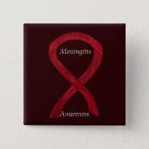 Meningitis Awareness Ribbon Custom Art Pins