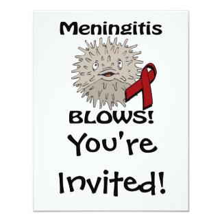 Meningitis Blows Awareness Design Custom Invite
