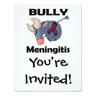 Meningitis del matón invitación 10,8 x 13,9 cm