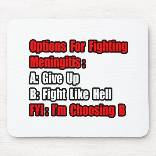 Meningitis Fighting Options Mouse Pad