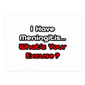 Meningitis...What's Your Excuse? Postcard