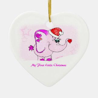 Meñique afortunado mi primer ornamento del navidad ornamentos de navidad