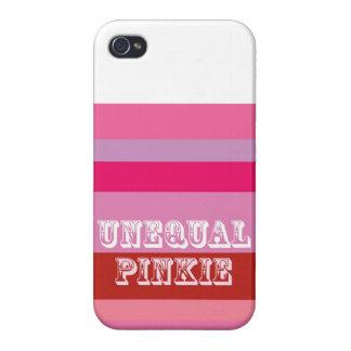 """""""Meñique desigual """" iPhone 4 Carcasas"""