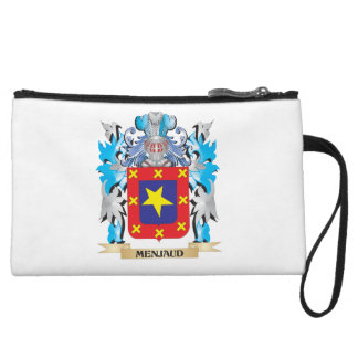 Menjaud Coat of Arms - Family Crest Wristlet Clutches