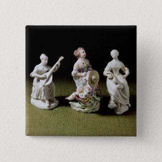 Mennecy porcelain group of a singer pinback button