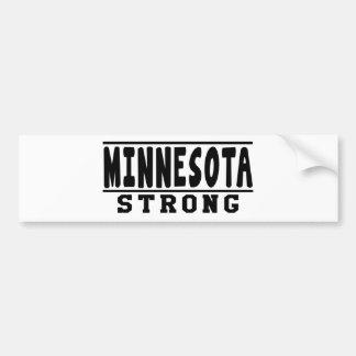 Mennesota Strong Designs Car Bumper Sticker