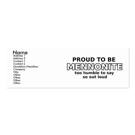 Mennonite Pride Funny Profile Card Humor