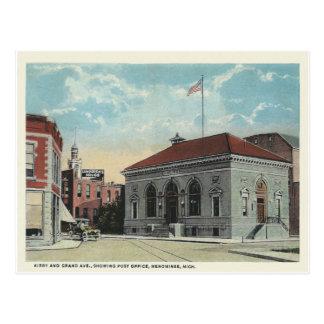 Menominee Michigan del vintage Postales