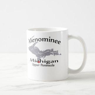 Menominee Michigan Heart Map Design Mug Coffee Mug