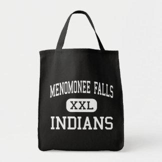 Menomonee Falls - Indians - High - Keshena Grocery Tote Bag