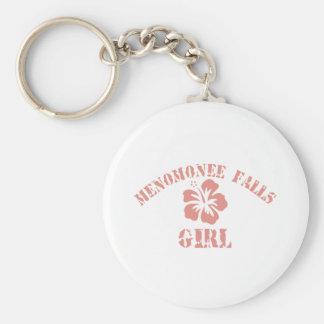 Menomonee Falls Pink Girl Basic Round Button Keychain