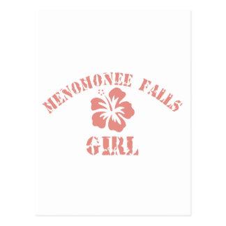 Menomonee Falls Pink Girl Postcards
