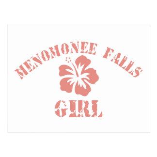 Menomonee Falls Pink Girl Postcard