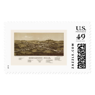 Menomonee Falls, WI Panoramic Map - 1886 Stamps