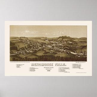 Menomonee Falls, WI Panoramic Map - 1886 Poster