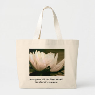Menopause 101 secret... large tote bag