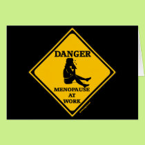 Menopause At Work T-shirts and Gifts For Her Card