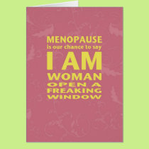 Menopause Birthday Card