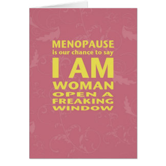 Menopause Birthday Card