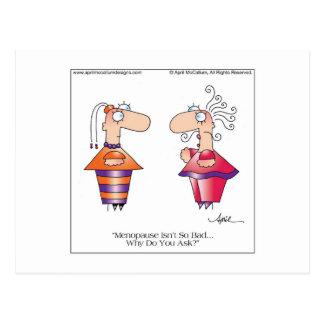 MENOPAUSE Cartoon Postcard by April McCallum