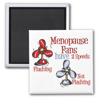 Menopause Fan 2 Inch Square Magnet
