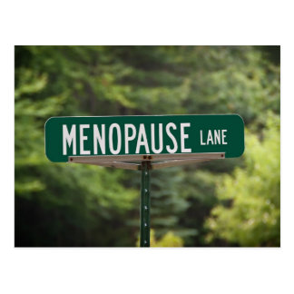 Menopause Lane Post Card