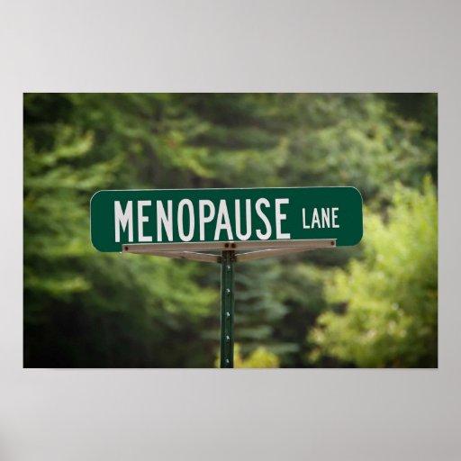 Menopause Lane Print