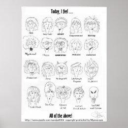 Menopause Moods Poster