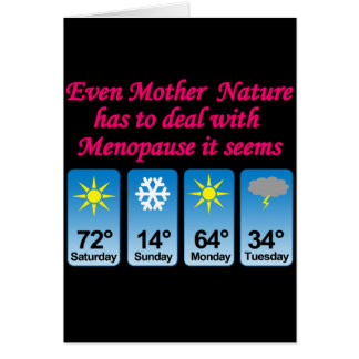 Menopause Mother Nature.png Stationery Note Card