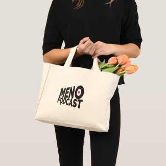 Menopodcast Logo Tiny Canvas Tote