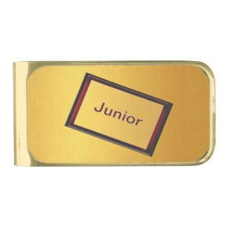Menor Clip Para Billetes Dorado