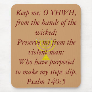 menorah[1], Keep me, O YHWH, from the hands of ... Mouse Pad