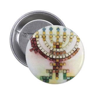 Menorah 2 Inch Round Button