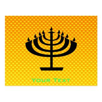 Menorah amarillo-naranja postales