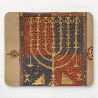 Menorah and other vessels of the temple mouse pad