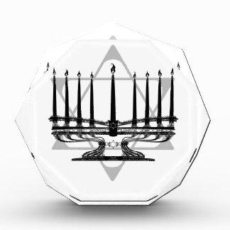 Menorah and Star Acrylic Award