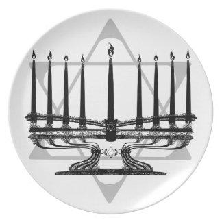 Menorah and Star I Melamine Plate