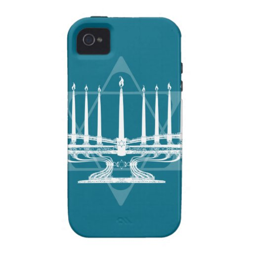 Menorah and star IV iPhone 4 Covers