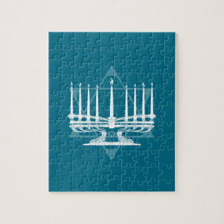 Menorah and star IV Jigsaw Puzzle